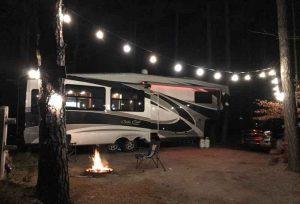 DBRV camp with campfire