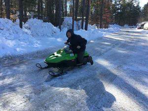 Jeff on the mini sled