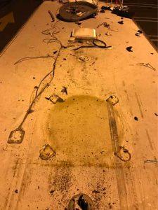 RV roof damage rear