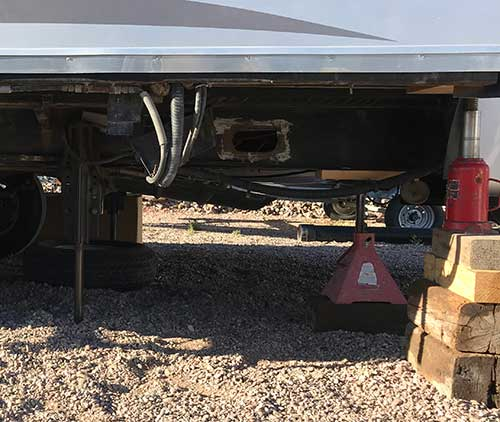 RV Slide Arm After Removal